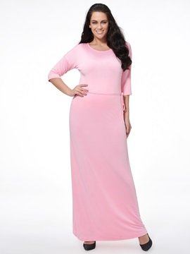 Ericdress Plain Plus Size Maxi Dress