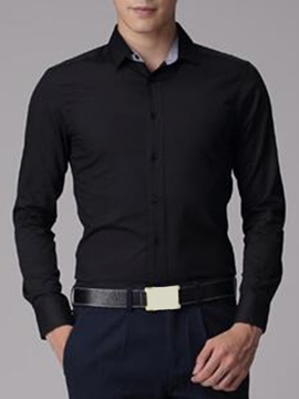 Ericdress Plain Slim Men's Shirt