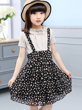 Ericdress Suspenders Dress Girls Outfit