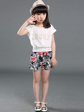 Ericdress Girls Shorts Outfit