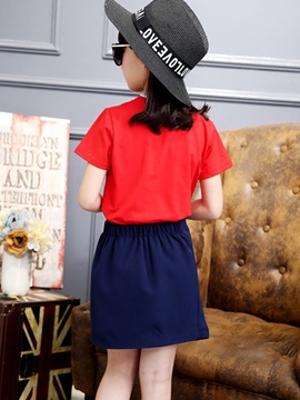 Ericdress Asymmetric Girls Skirt Outfit