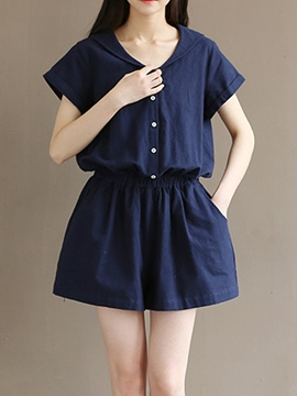 Ericdress Simple Loose Rompers