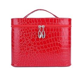Ericdress Vintage Croco-Embossed Cosmetic Bag