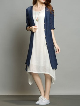 Ericdress Simple Asymmetric Dress Suit