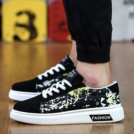 Ericdress Floral Round Toe Flat Heel Low-Cut Men's Sneakers