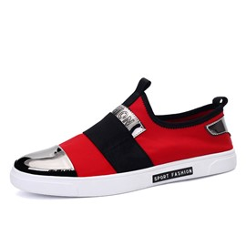 Ericdress Trendy Contrast Color Slip-On Skater Shoes