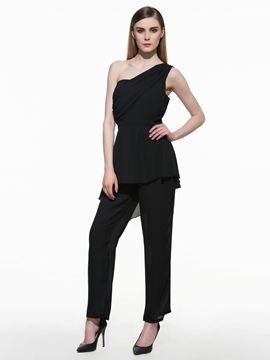 Ericdress Sexy Cold Shoulder Frill Jumpsuits Pants