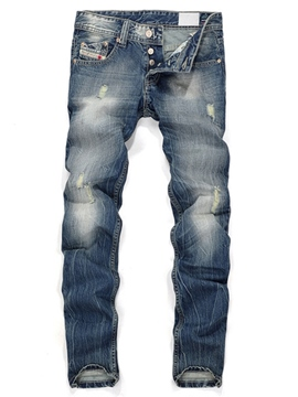 Ericdress Holes Casual Denim Men's Jeans