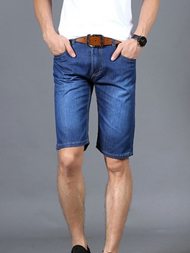 Ericdress Plain Half Leg Casual Denim Men's Shorts