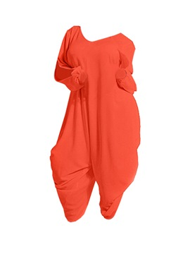 Ericdress Solid Color Plus Size Jumpsuits Pants
