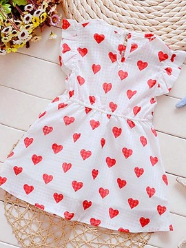 Ericdress Print Girls Dress