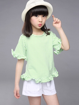 Ericdress Stripe Girls Dress