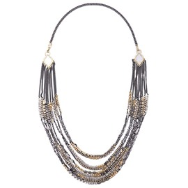 Gray Multilayer Metal Necklace