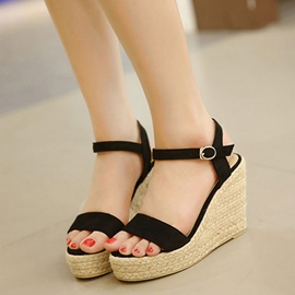 Ericdress Suede Kintting Wedge Sandals
