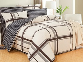 Ericdress Simple Elegant Stripe Cotton Bedding Sets
