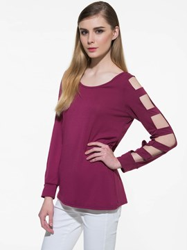 Ericdress Loose Plain Hole Casual T-Shirt