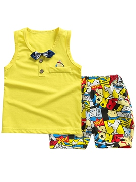 Ericdress Cartoon Letter Boys Outfit