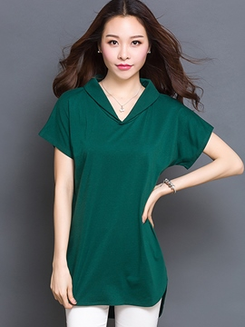 Ericdress Loose Solid Color Plus Size T-Shirt