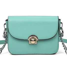 Ericdress Celebrity Solid Color Motorcycle Crossbody Bag