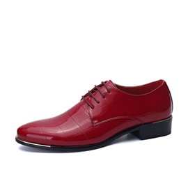 Ericdress PU Solid Color Point Toe Men's Oxfords