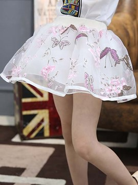 Ericdress Floral Print Girls Skirt