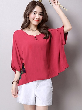 Ericdress Loose Batwing Casual T-Shirt