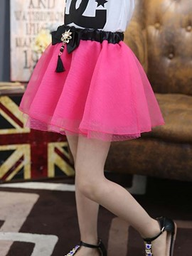 Ericdress Pleated Girls Skirt
