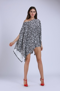 Ericdress Zebra Stripe Asymmetric Casual Dress