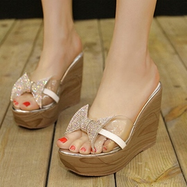 Ericdress Transparent Bowtie Mules Shoes