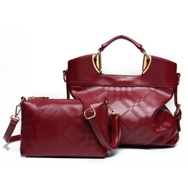 Ericdress Soft Plaid Embossed Handbags(2 Bags)