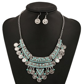 Ericdress European Style Coin Tassels Jewelry Set