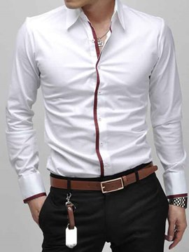 Ericdress Slim Fit Long Sleeve Men's Shirt