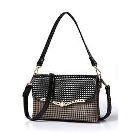 Ericdress Simple Houndstooth Shoulder Bag