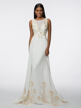 Ericdress Straps Appliques Sequins Evening Dress