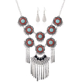 Geometric Tassel Jewelry Set