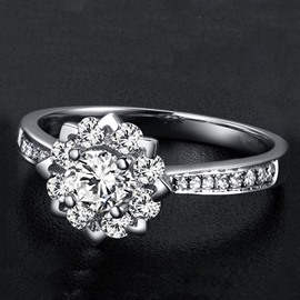 2 Carat Size Simulation Diamond Ring