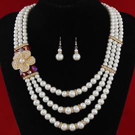 Multilayer Pearl Two-Piece Jewelry Set