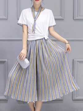 Ericdress Fashion Stripe Pants Suit