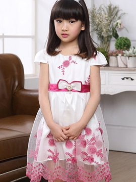Ericdress Short Sleeve Girls Dress