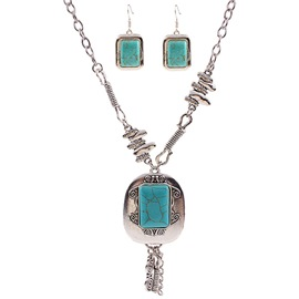 Ericdress Alloy Carved Turquoise Jewelry Set