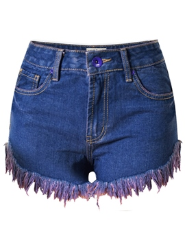Ericdress FashionTassel Denim Shorts