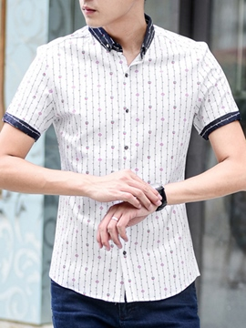 Ericdress Print Casual Men's Shirt