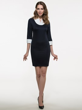 Ericdress OL V-Neck Sheath Dress