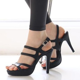 Ericdress European Cut Out Peep Toe Stiletto Sandals