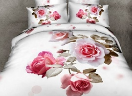 Ericdress Various Gesture Peony Print 3D Bedding Sets