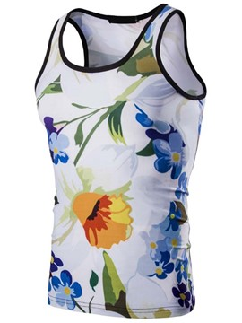 Ericdress Flower Print Casual Men's Vest