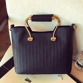 Ericdress Vogue Stripe Embossed Handbag