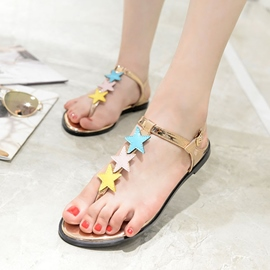 Ericdress Star Thong Flat Sandals