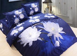 Ericdress Pure Lotus Flower Print 3D Bedding Sets