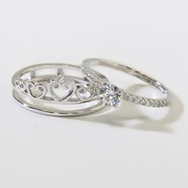 925 Silver Princess Crown Ring